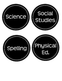 Printable Round B&W Subject Labels