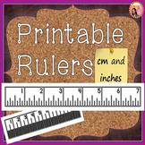 Printable Rulers