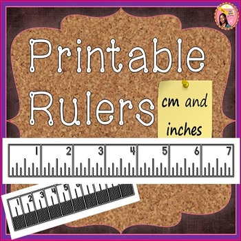 Printable Rulers By Nyla S Crafty Teaching Teachers Pay Teachers