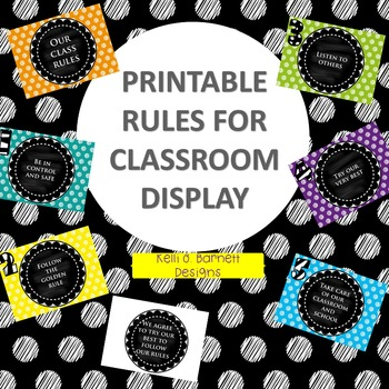 Printable Rules for Classroom Display With Positive Language