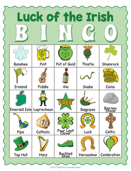 Saint Patrick's Day BINGO