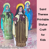 Printable Saint Therese of Lisieux Statue Craft for Kids