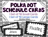 Classroom Schedule Cards | Black Polka Dot Organization
