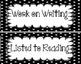 Classroom Schedule Cards   Black Polka Dot Organization