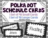 Classroom Schedule Cards | Black Polka Dot Organization