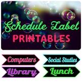 Printable Schedule Labels- Editable