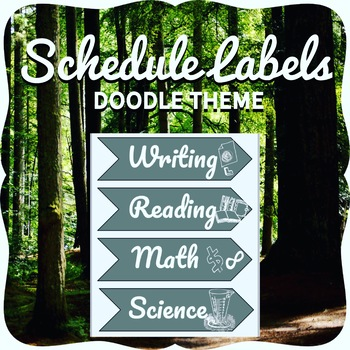 Printable Schedule Labels Doodle Theme