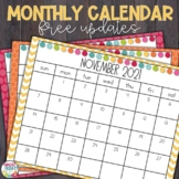 Printable School Year Calendar 2018-2019