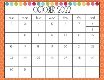 Printable School Year Calendar 2018-2019 by Almost Friday ...