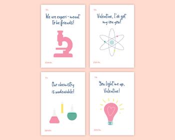 Printable Science Valentines