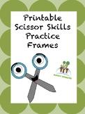 Printable Scissors Skills Practice Frames