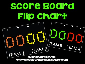 Printable Score Board Flip Chart