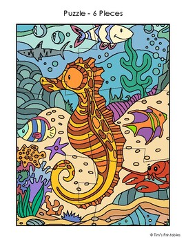 Printable Seahorse Puzzles   Make Your Own Puzzles