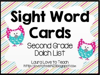 Printable Second Grade Sight Words