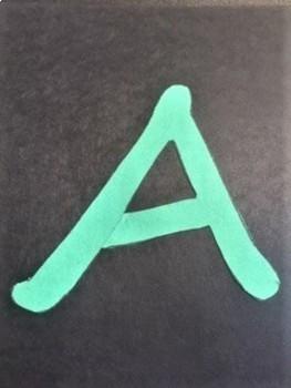 Print Segoe Script Alphabet Letters for  Banner,  Bulletin Board, Poster or Book
