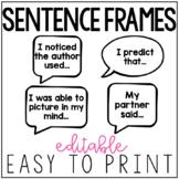 Editable Sentence Frames