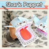 Printable Shark Puppet Template - Craft Activities - Shark