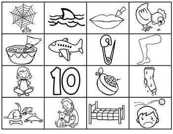 Word Work Printable Short Vowel Picture Sorts- Middle Sounds