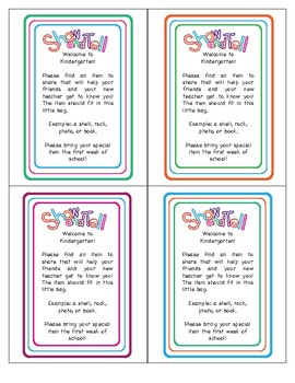 Printable Show and Tell Letter
