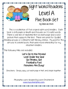 Sight Word Books; Level A