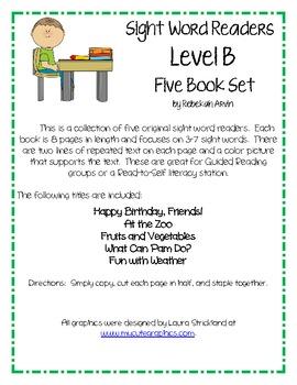 Sight Word Books; Level B