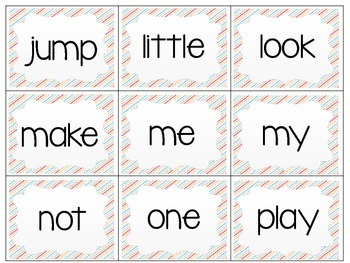 Printable Pre-Primer and Primer Sight Word Cards