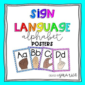 Printable Sign Language Alphabet Posters