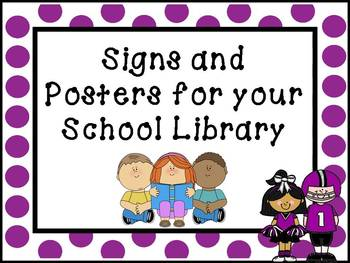 Printable Signs and Posters for your School Library - Football Theme