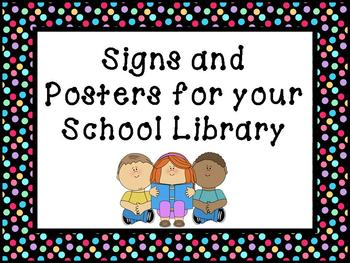 Printable Signs and Posters for your School Library - Mult