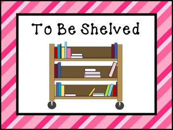 Printable Signs and Posters for your School Library - Pink Stripes