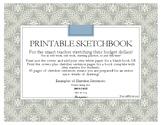 Printable Sketchbook