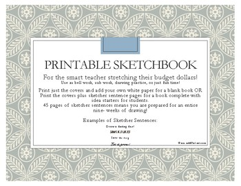 Printable Sketchbooks - just print & staple for instant student use!