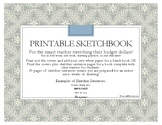 Printable Sketchbooks - just print & staple for instant st