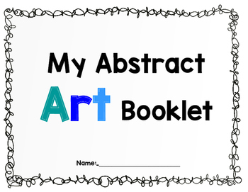 Printable Sketchbook:  ABSTRACT ART themed