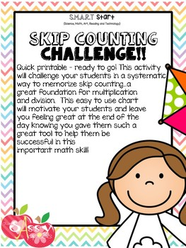 Skip Counting Multiplication Facts Common Core Math - Work Smarter Not Harder!