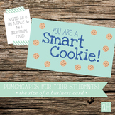 Printable Smart Cookie Punchcard for Students
