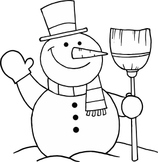 Printable Snowman Counting Book