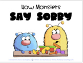 Printable Social Story 9 How Monsters Say Sorry SEL Story With 5 Lessons