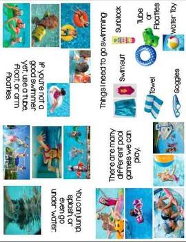 Printable Social Story Book: Swimming is Fun