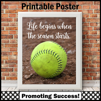 photograph relating to Printable Softball named Printable Softball Indicator, Present for Softball Educate, Participant or Employees