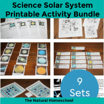 photo regarding Printable Sets named Printable Sunlight Method Shots, Things to do Video games Package deal 9 Sets + Reward