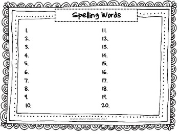 Printable Spelling Activity