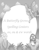 Printable Spelling Activities for oo ou ew words Gray