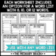 Spelling Homework Worksheet Pages to use with Any Word List!