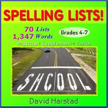 70 Spelling Lists (Grades 4-7) Printables