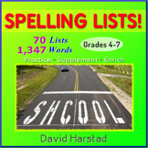 Spelling | 70 Lists with 1,347 Words (Gr. 3-7)
