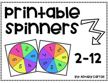 Printable Spinners