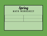 Printable Spring Math Worksheet (you write in what the pro