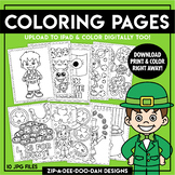 Printable St. Patrick's Day Coloring Pages {Zip-A-Dee-Doo-Dah Designs}