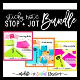 Printable Sticky Note Reading Stop + Jots BUNDLE [Skills,